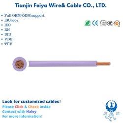 H05V2-K H07V2-K H05V2-U H07V2-R spécial isolés de PVC Aucun Sheated Singlecore Câbles avec conducteur de cuivre