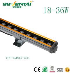 24W 防水 IP66 DMX コントローラ RGB LED ウォールワッシャー LED プロジェクタの建材からのライト