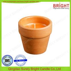 Pots d'argile matériel Bougies de plein air avec 3 % de la Citronnelle Fragrance