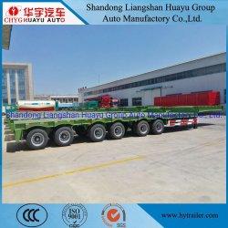 6 Speciale Voertuig van de Aanhangwagens van het Bed van de as het Op zwaar werk berekende 100t Lage Semi voor het ChineesHoofd van de Tractor Truk