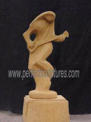 В Саду декоративных абстрактные танцы леди искусства скульптура из камня мрамора гранита песчаника (Си-A075)