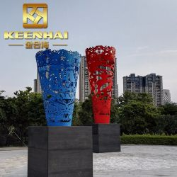 De Beeldhouwwerken van het Metaal van de Kunst van de Tuin van het Roestvrij staal van de Douane van Keenhai