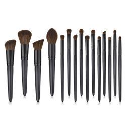 10PCS Make-up Brushes Set synthetisch haar Zwart Houten handvat Eyeshadow Blush Micro-borstels Professionele cosmetische gereedschappen