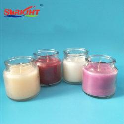 De houten Wiek Gebemerkte Kaarsen van de Kruik van het Glas voor Verkoop