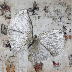 Noch Ölgemälde-Wand-dekorative Kunst der Leben-Basisrecheneinheits-silbernen Folien-2019 neue handgemachte des Entwurfs-(141D0072)
