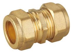 En1254-2 15mm conector de tubo de compressão de latão Acoplador iguais
