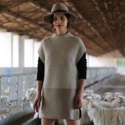 2017 nouveau style de capuchon de femmes du manchon 100% cachemire Pull