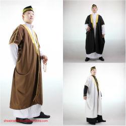 Qatar túnica árabe de estilo de los hombres Thobe árabe y musulmán con mangas largas túnica Coro de desgaste