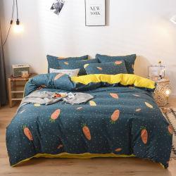 Tejido de satén impresos Conjunto funda nórdica hizo ropa de cama 4 PCS sábana de algodón