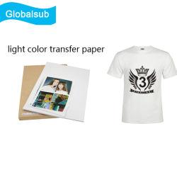 薄い色の衣服のためのインクジェット写真の熱の出版物の転写紙