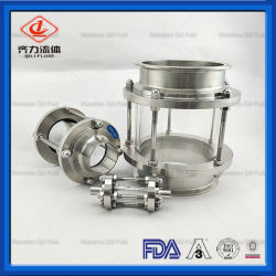304 316L en acier inoxydable de haute qualité sanitaire Regard du réservoir de niveau de liquide traverser le regard des colonnes en verre BLS de la vue