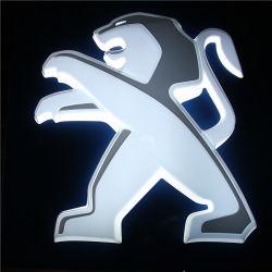 Peugeot Skoda con retroiluminación LED 3D de la luz el logotipo de pegatinas de coches