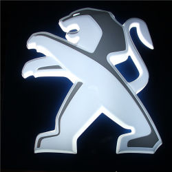 Peugeot Skoda 가벼운 3D LED Backlit 차 로고 스티커
