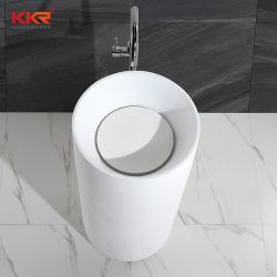 Современный дизайн твердой поверхности каменной ванной пьедестал (B171128)