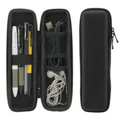 Schwarzer Farbe EVA-Bleistift-Kasten für förderndes Geschenk mit Reißverschluss und Zoll-Firmenzeichen-Kennsatz