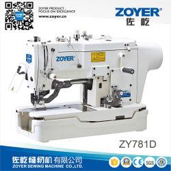 Zy781d heißer Verkaufs-Hochgeschwindigkeitssteppstich-gerade Taste, die Nähmaschine durchlöchert