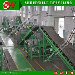 Mettre au rebut des déchets/automatique/usine de recyclage des pneus usagés en caoutchouc de déchiquetage de la Miette