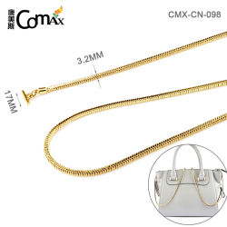 Квадратные змеи золотой цепочки поставок латуни металлические дамской сумочке цепь