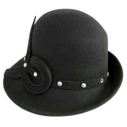 Última moda Woo sentía Cloche Fedora Hat
