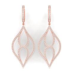 Miss Bijoux de haute qualité à bas prix chute plaqué or Dangle Designer Hoop Earring