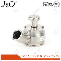 SS304 SS316L асептического промойте бак нижний клапан с подводящего трубопровода подачи пара