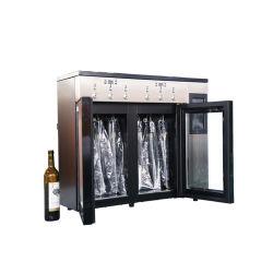 L'azote Keep Fresh 6 bouteille de vin rouge du refroidisseur de distributeur pour Bar