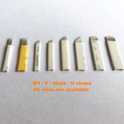눈썹 귀영나팔 Microblade 바늘을%s 메이크업 Microblading 처분할 수 있는 영원한 바늘