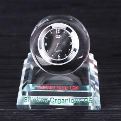 Reloj de Escritorio de cristal con la Botella de Perfume para regalos de oficina