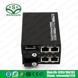 Einfacher Glasfaser-Fast-Ethernet-Konverter, 150 nm, 20 km, optischer Medienkonverter