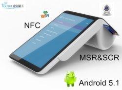 Dispositivo all-in-one Android Mobile POS Terminal Dual Touch Schermo con stampante con certificato CE EMV PT7003
