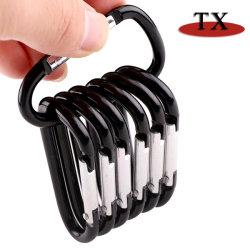 Хорошее качество красочные плоская форма алюминиевая кнопка D Скалолазание крюка карабин для рекламных подарков
