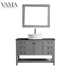 Vama 48 pouces de gros meubles imperméables Salle de bains complète de la vanité définit 756048