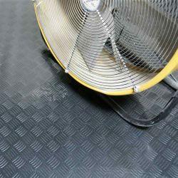 Schwarze kleine Diamant-Weide-Gleitschutzgummiblatt-Fußboden-Matte