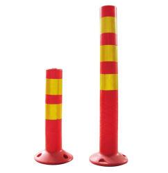 튼튼한 빨간 소통량 도로 표지 경고 포스트 콘