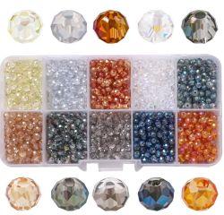 Ensemble boîte cristal de verre facette cordon plat Perles de Rondelle DIY Main populaires de décisions pour les bijoux