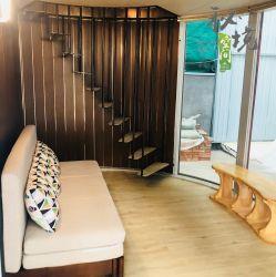 이완 직경 400cm 조류의 가장 네스트 빌딩 재료 강철 구조 모듈식 모바일 하우스 반장집