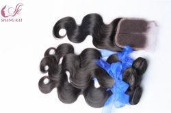 100% волос человека Бразильской Virgin Weft волос