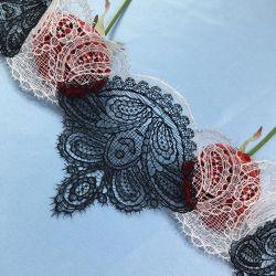 Robe dentelle fantaisie en Nylon de tissu de fraisage de bandes de garniture