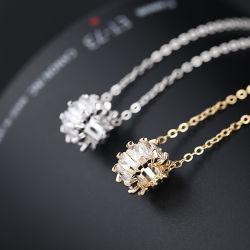 Zircon Sleutelhanger Ketting Fashion Woman Hanger Korean Platinum Zircon Ketting