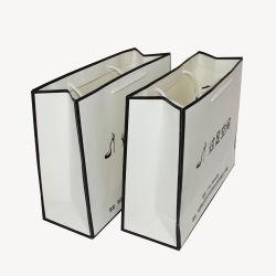 تخصيص شعار إسهاب أبيض للسيدات أحذية عالية الكعب التعبئة الورق حقيبة