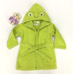 Terry macio de algodão bebê roupão de banho com bordados design engraçado
