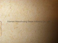 Pietra di marmo naturale beige piena di sole egiziana di Menia per le parti superiori di vanità del pavimento della parete