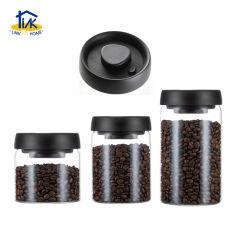Cnr12002bk het VacuümGlas 1.2litre van Borosilicate van de Bus van de Boon van de Koffie van de Kruik van het Voedsel