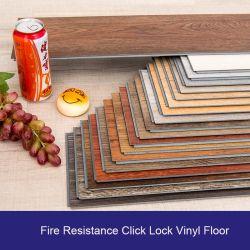 Pisos de vinilo resistente tablones Fácil de instalar el bricolaje haga clic en Bloquear mosaico de planchas de PVC