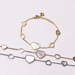 Monili più poco costosi di prezzi del cuore di alta qualità della collana madreperlacea semplice di Bracleet