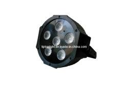 PAR La lumière LED plat 6PCS*3en1 LED Quad PAR, 3/7canaux DMX, le DMX PAR, vous pouvez Silm Couvercle, prix bon marché conduit la phase de la lumière, dirigé par