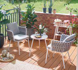 庭の家具の藤の金属はセットの屋外の茶表の議長を務める