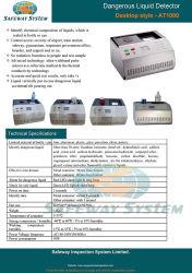 Matériel d'inspection Safeway-Dangerous Bouteille de liquide pour la contrebande de liquide de la numérisation