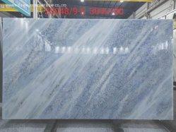 Beau blanc/noir/gris marbre/granit naturel de dalles de poli Nouveau Bleu ciel Quartzite Comptoir de cuisine Carrelage mural