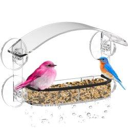 Alimentador de Pássaros da janela com fortes ventosas